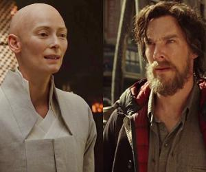 Бритоголовая Суинтон и бородатый Камбербэтч в первом трейлере Доктора Стрэнджа