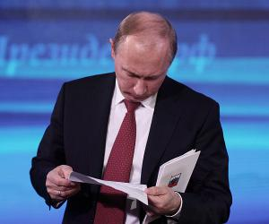 Путин будет «до ночи» готовиться к «прямой линии» с народом