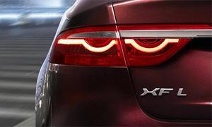 Jaguar опубликовал первое изображение удлиненной версии XF