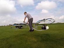 Британский изобретатель представил самодельный ховербайк (ВИДЕО)